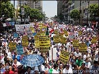 Desfile pro-inmigrante en Los Angeles