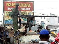 Ethiopia soldier in Mogadishu