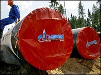 Gazprom oil pipeline