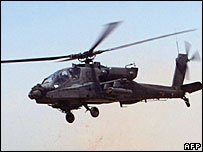 US helicopter in Iraq (file)