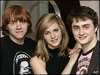 Rupert Grint, Emma Watson and Daniel Radcliffe
