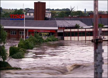 Tesco flooded