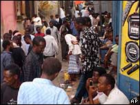 People in Mogadishu's Bakara market