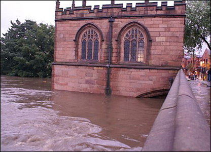 Chapel on the river Don in Rotherham