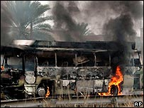 Bus attacked on way to Baghdad airport