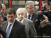 Mohamed Al Fayed (centre)