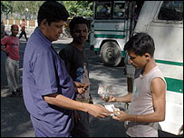 Bartering for coins in Guwahati