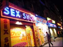 Sex shop in Paris, BBC
