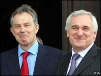 Tony Blair and Bertie Ahern