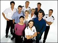 The cast of All Saints (photograph Seven Network Australia)