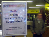 Sign at the Glasgow Underground