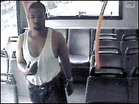 Hussein Osman on a bus after his failed bombing