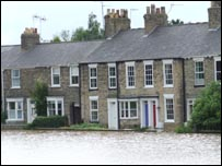 Flooded properties in Beverley