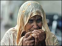 Drenched woman in Islamabad
