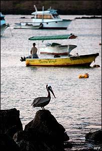 Puerto Baquerizo Moreno, en la isla de San Cristobal en las Gal�pagos