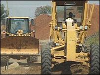 Bulldozers in Juba