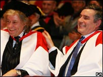 Bob Geldof and Gordon Brown
