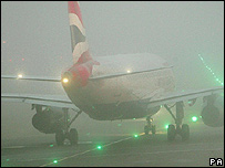 Recent fog at Heathrow airport