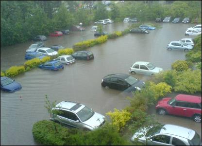 Flooding in Newstead (photo by Jurgen Halligen)