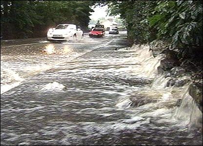 Road near Rowsley in Derbyshire