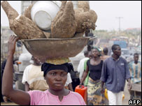 Woman in Nigerian market