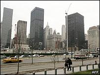 Antiguo sitio de las Torres Gemelas de Nueva York.