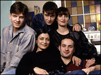 Cast from BBC's This Life