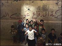 Niños en Dahuk en Irak, donde los kurdos fueron presuntamente torturados durante la campaña de Anfal