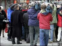 Media outside the High Court