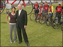 Konnie Huq and Ken Livingstone at the London Freewheel launch