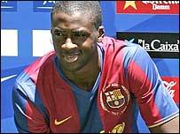 New Barcelona midfielder Yaya Toure