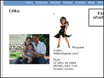 Página en MySpace