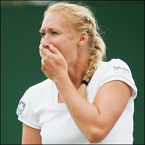 Elena Baltacha goes out in round one