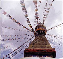 Boudhanath Stupa in the Kathmandu Valley