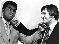 Michael Parkinson with Muhammad Ali in 1974
