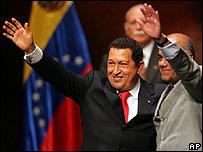 Hugo Chávez y su nuevo vicepresidente, Jorge Rodríguez