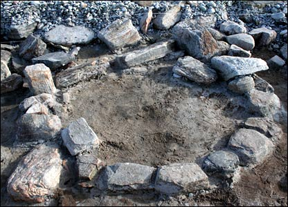 Remains of a horseshoe shaped building (Pic: Scape)