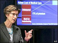 Kim Belshe, secretaria de Salud y Servicios Humanos de California