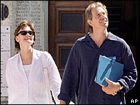 Cherie and Tony Blair on holiday