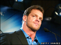 The late wrestler Chris Benoit (file image)