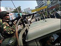 Bangladeshi soldier in Dhaka