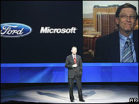 Ford boss Alan Mulally and Microsoft boss Bill Gates