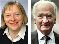 Angela Eagle and Lord Mackay, pictures by BBC and PA