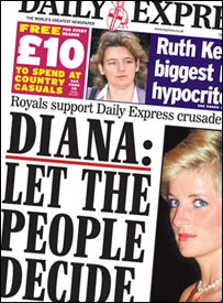 Diana, front page