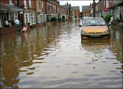 Worksop flooding. Copyright: Kirsty Warren
