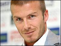 Footballer David Beckham
