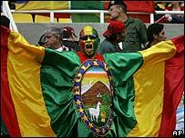 Hincha boliviano en Copa Am�rica.