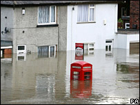 Flooding in Catcliffe, South Yorkshire