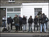 Photographers at Kate Middleton's house