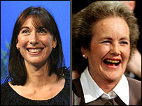 Samantha Cameron and Elspeth Campbell